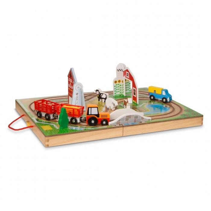 Деревянная игрушка Melissa & Doug Транспортный набор в чемоданчике Ферма фото