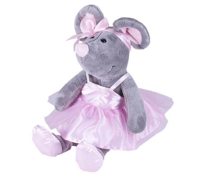 Мягкие игрушки SofToy Мышь в розовом сарафане с бантиком 26 см