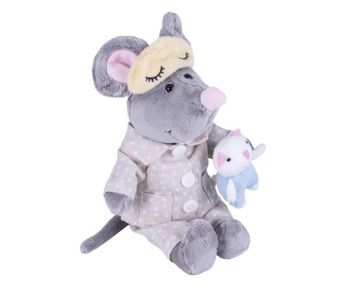 Купить Новогодние украшения, SofToy Мышь в пижаме 26 см