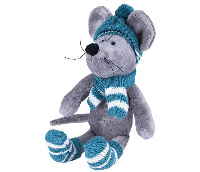 Картинка для Мягкая игрушка SofToy Мышь в шапке 26 см