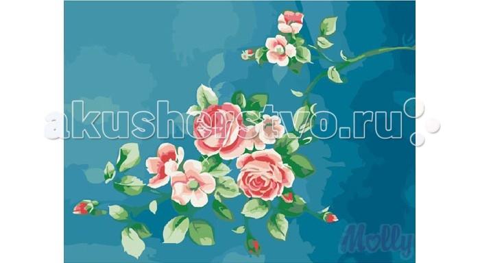 Картины по номерам Molly Картина по номерам Изящные розочки 40х50 см molly мозаичная картина зеленая долина 40х50 см
