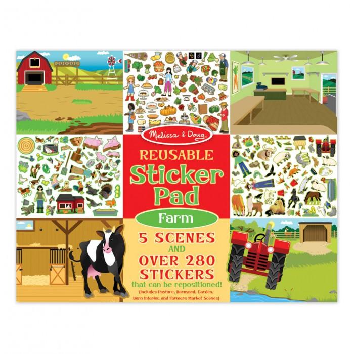 Купить Детские наклейки, Melissa & Doug Творчество Набор стикеров с фоном Ферма