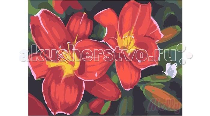 Картины по номерам Molly Картина по номерам Садовые лилии 40х50 см molly мозаичная картина зеленая долина 40х50 см