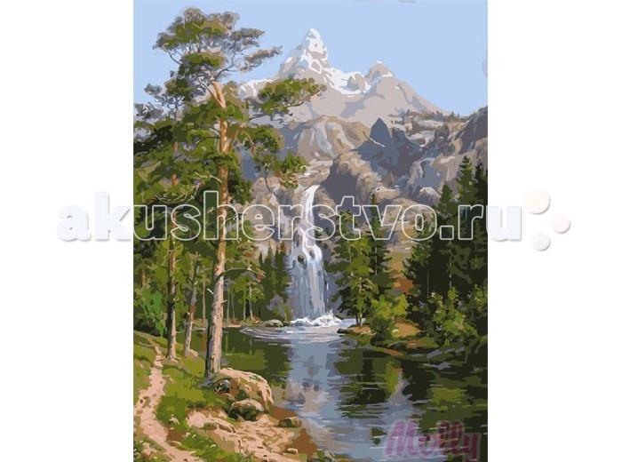 Картины по номерам Molly Картина по номерам Водопад в горах 40х50 см molly мозаичная картина зеленая долина 40х50 см