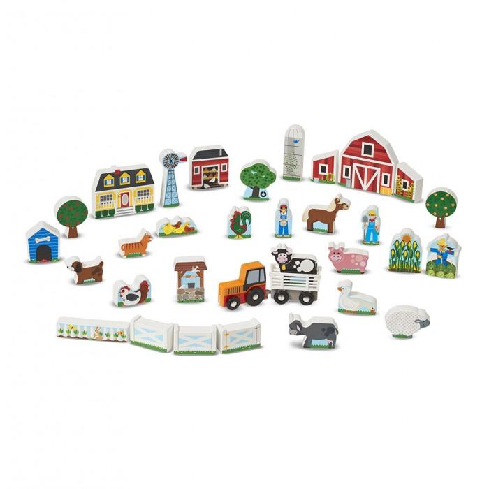 Купить Деревянные игрушки, Деревянная игрушка Melissa & Doug Набор Ферма