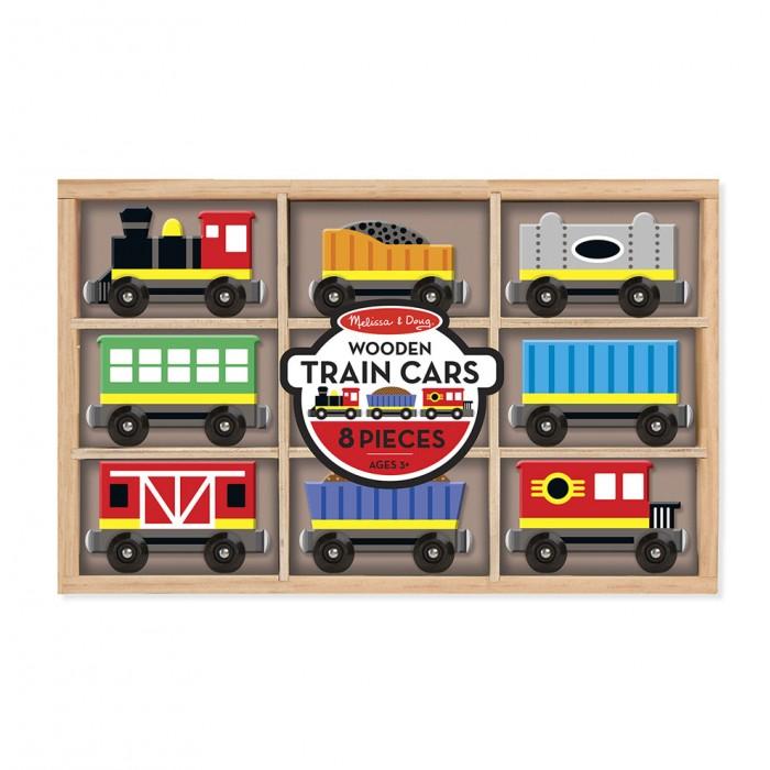Деревянная игрушка Melissa & Doug Набор вагончиков