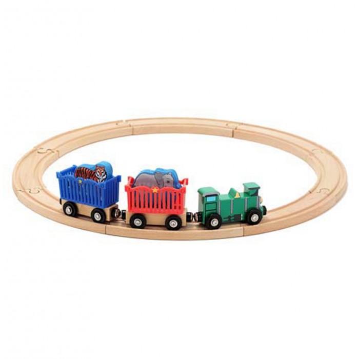 Деревянные игрушки Melissa Doug Железная дорога набор Животные зоопарк