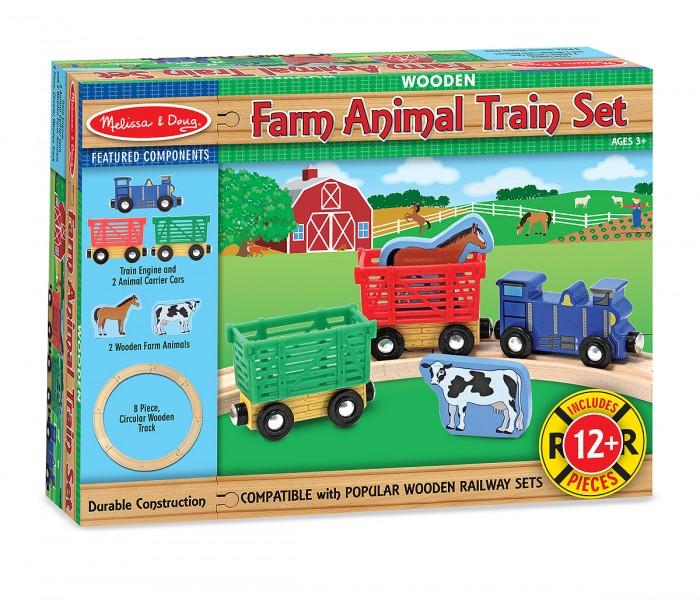 Деревянные игрушки Melissa & Doug Железная дорога набор Животные