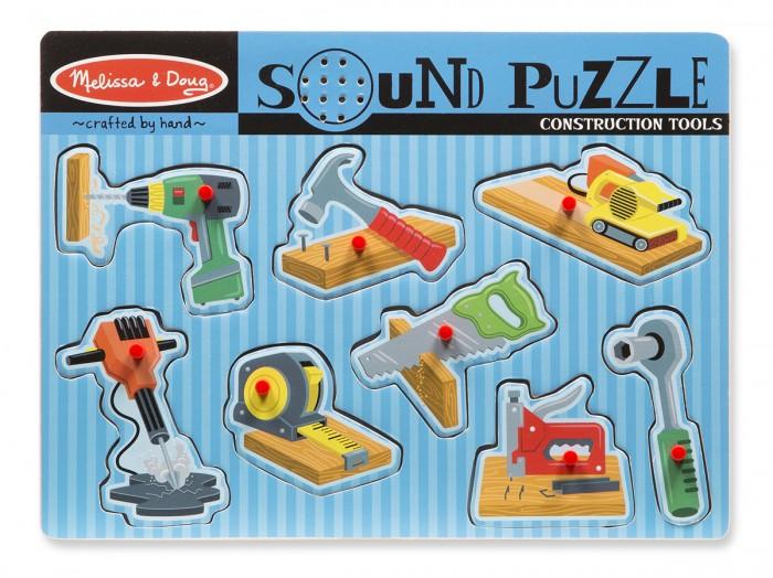 Купить Деревянные игрушки, Деревянная игрушка Melissa & Doug Пазл со звуком Инструменты