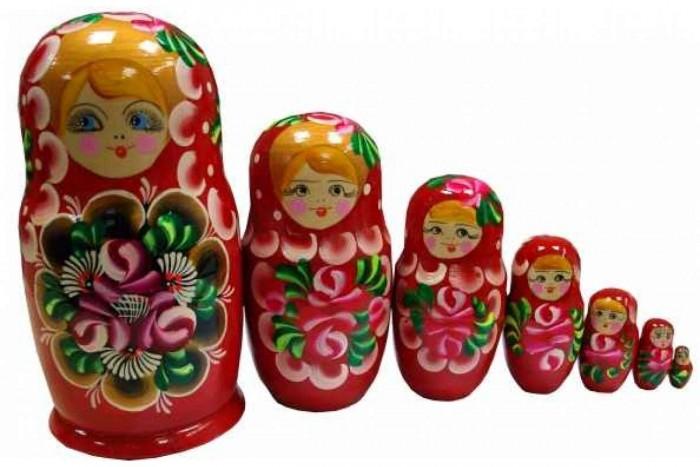 Купить Деревянные игрушки, Деревянная игрушка RNToys Матрешка расписная гуашь 7 в 1