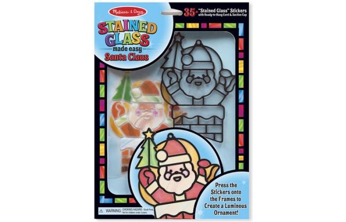 Купить Наборы для творчества, Melissa & Doug Творчество Витраж Санта Клаус