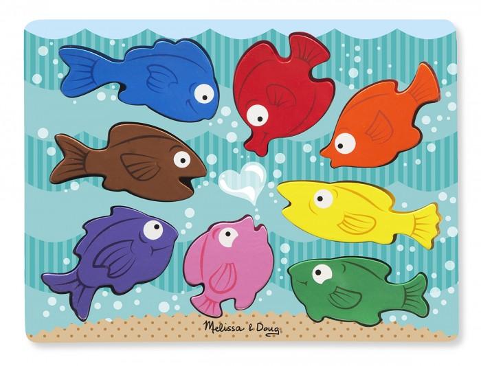 Деревянная игрушка Melissa & Doug Первые навыки Цветные рыбки