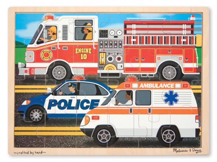 Купить Деревянные игрушки, Деревянная игрушка Melissa & Doug Пазл Транспорт 9062