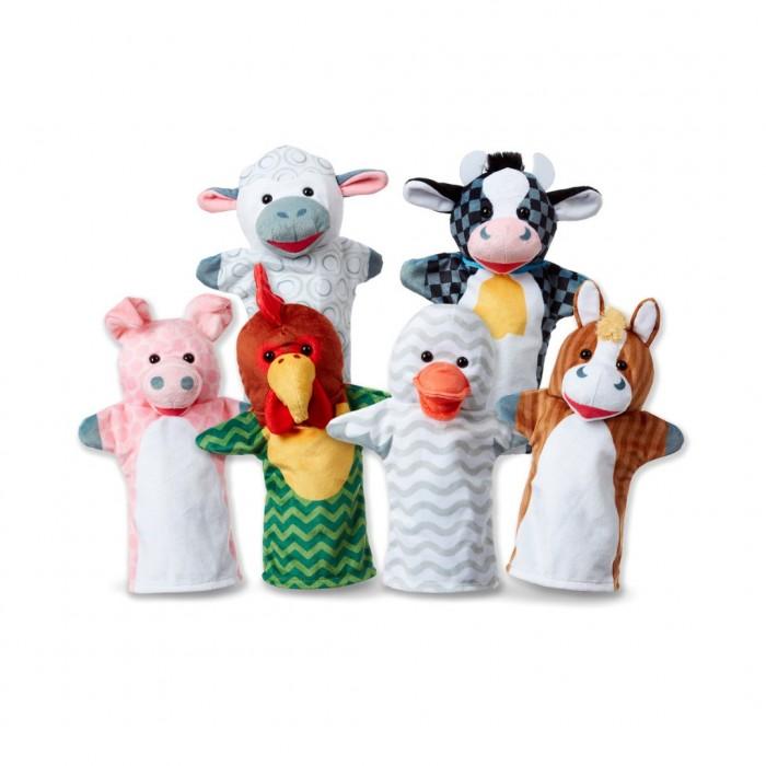 Фото - Ролевые игры Melissa & Doug Плюшевые куклы на руку Животные с фермы набор животные фермы schleich набор животные фермы