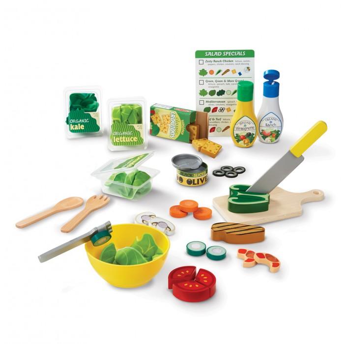 Деревянные игрушки Melissa & Doug Готовь и играй Набор для приготовления салата