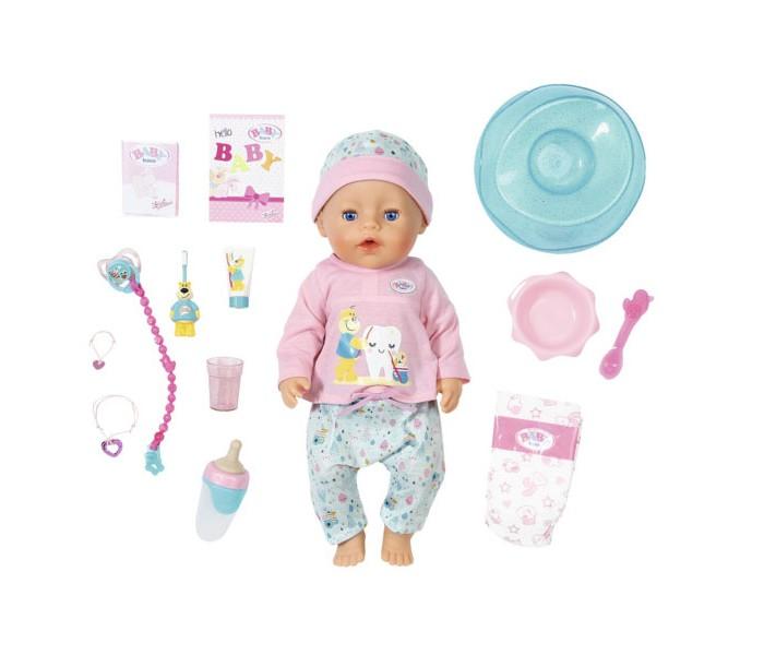 Купить Куклы и одежда для кукол, Zapf Creation Baby born Кукла интерактивная Чистим зубки 43 см