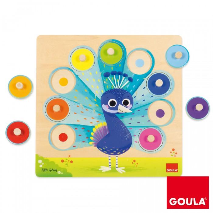 Картинка для Деревянные игрушки Goula Пазл Павлин