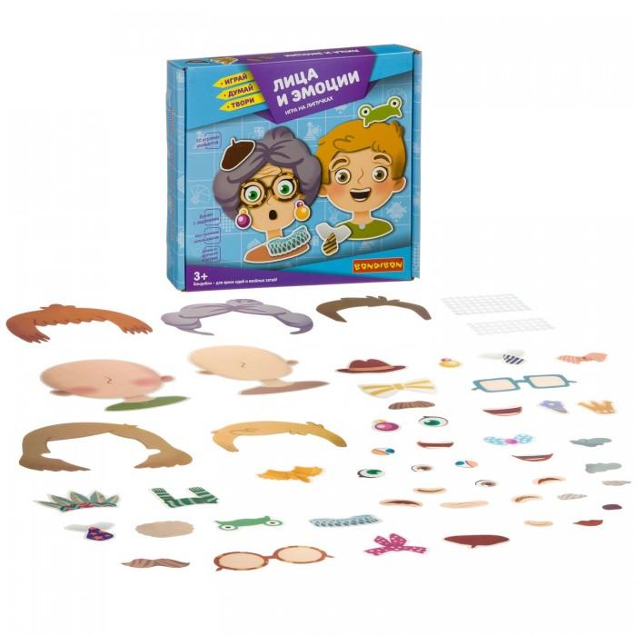 Купить Игры для малышей, Bondibon Игры на липучках Лица и эмоции