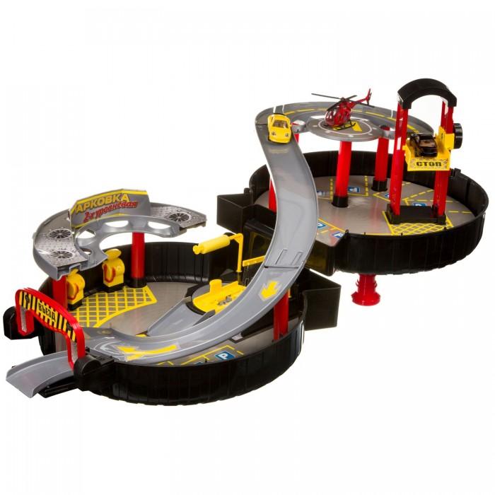 Машины Bondibon Набор игровой Парковка 2-х уровневая hld toys игровой набор парковка 1