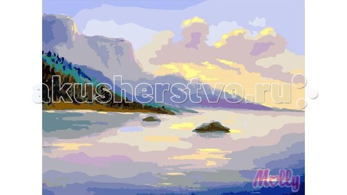 Картины по номерам Molly Картина по номерам Речные просторы 40х50 см molly мозаичная картина зеленая долина 40х50 см