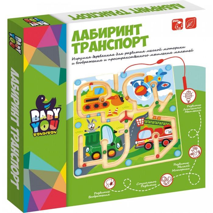 Купить Деревянные игрушки, Деревянная игрушка Bondibon игра лабиринт с магнитными шариками Транспорт