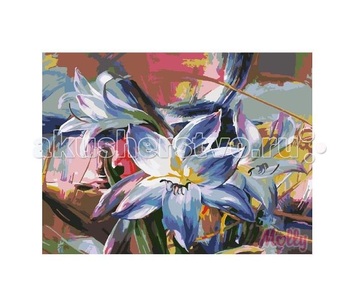 Картины по номерам Molly Картина по номерам Голубые лилии 40х50 см molly картина по номерам голубые лилии 40х50 см