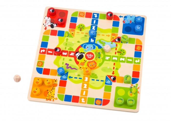 Купить Развивающие игрушки, Развивающая игрушка Tooky Toy Набор 2 в 1 Летающие шашки и змейка