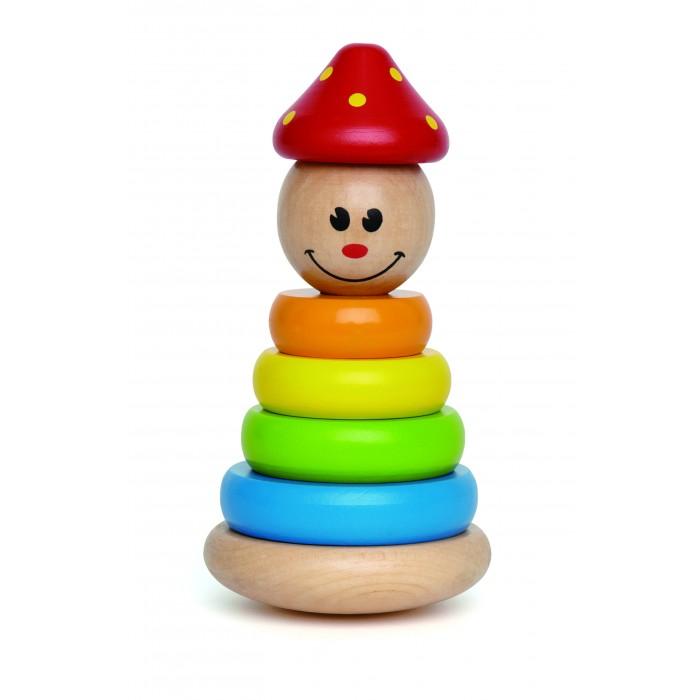 Деревянные игрушки Hape Яркая пирамидка Клоун