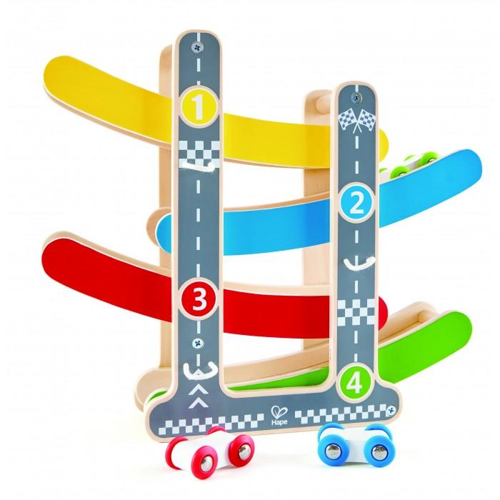 Фото - Деревянные игрушки Hape Игровой набор Трек деревянные игрушки hape погремушка радуга