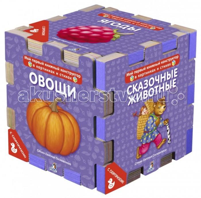 Книжки-игрушки Робинс Мой первый книжный конструктор в картинках и стихах книги издательство робинс книжный конструктор развивающий кубик