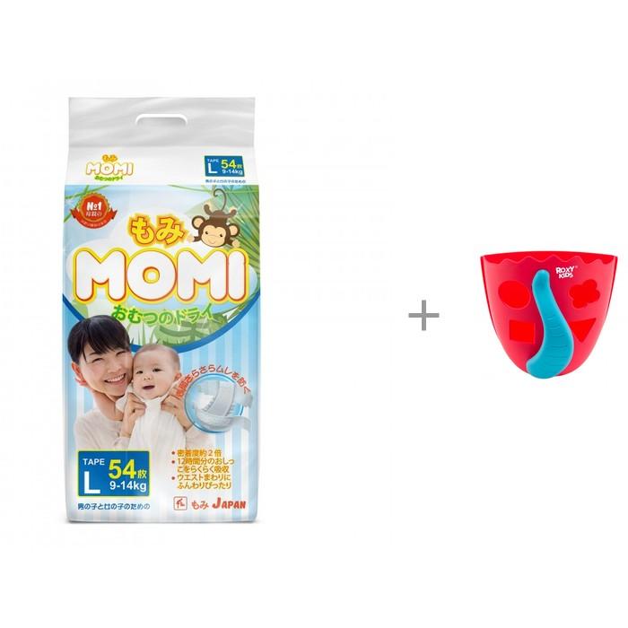 Купить Momi Подгузники L (9-14 кг) 54 шт. и ROXY Органайзер-сортер для игрушек в ванную DINO в интернет магазине. Цены, фото, описания, характеристики, отзывы, обзоры