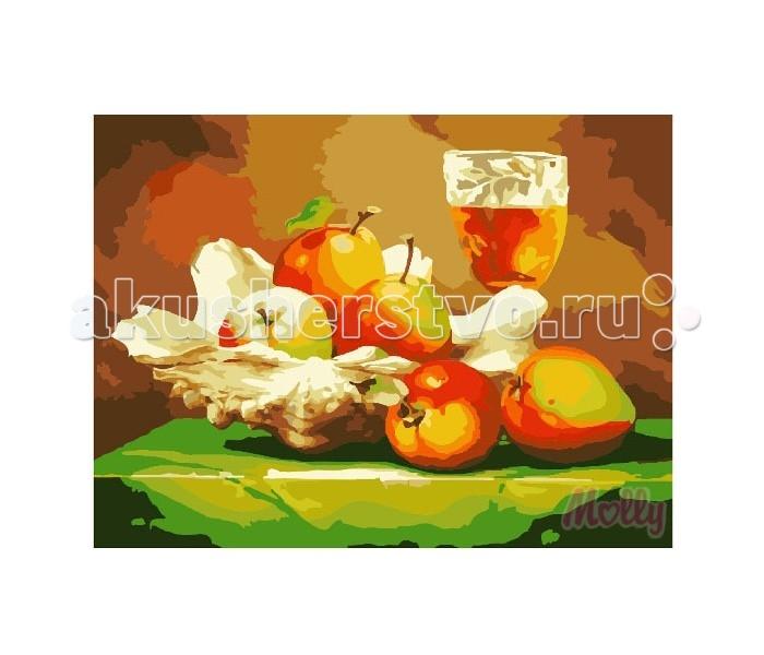 Картины по номерам Molly Картина по номерам Яблочный натюрморт 40х50 см molly мозаичная картина зеленая долина 40х50 см