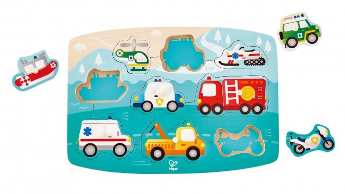 Деревянные игрушки Hape Транспорт(пазл)