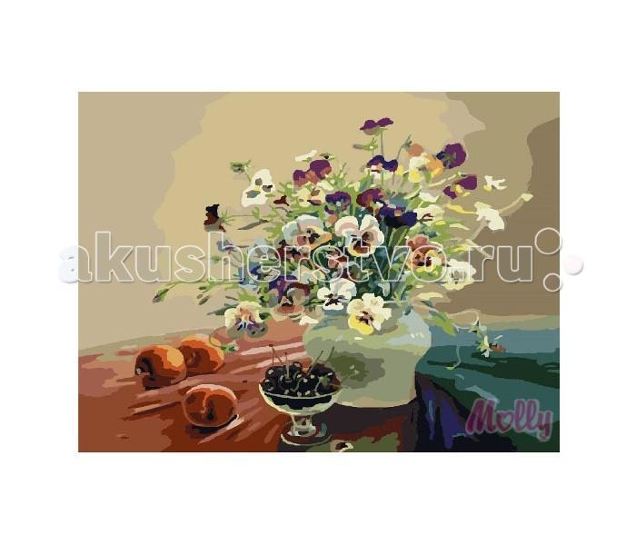 Картины по номерам Molly Картина по номерам Букет с персиками 40х50 см molly мозаичная картина зеленая долина 40х50 см