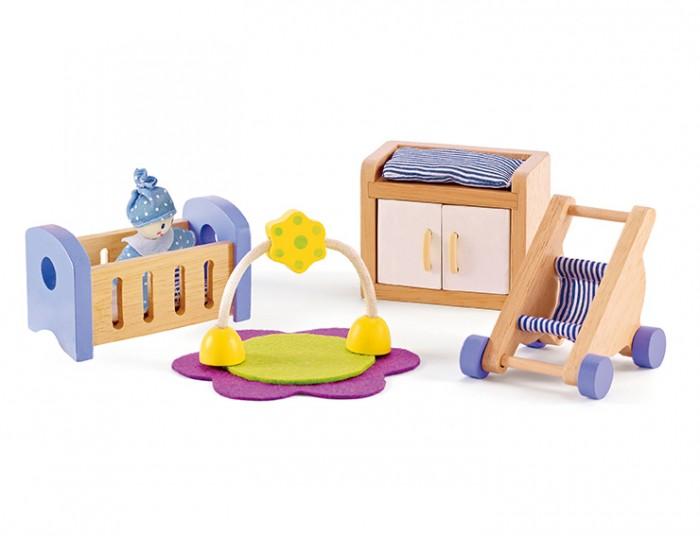Кукольные домики и мебель Hape Набор для кукольного дома Детская комната кукольные домики и мебель hape мебель для столовой