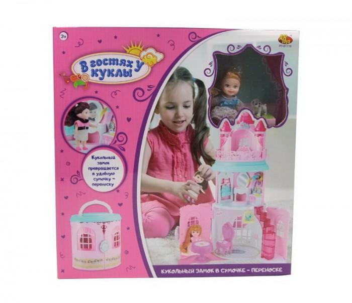 Купить Игровые наборы, ABtoys В гостях у куклы Замок кукольный в сумочке-переноске с куклой и аксессуарами