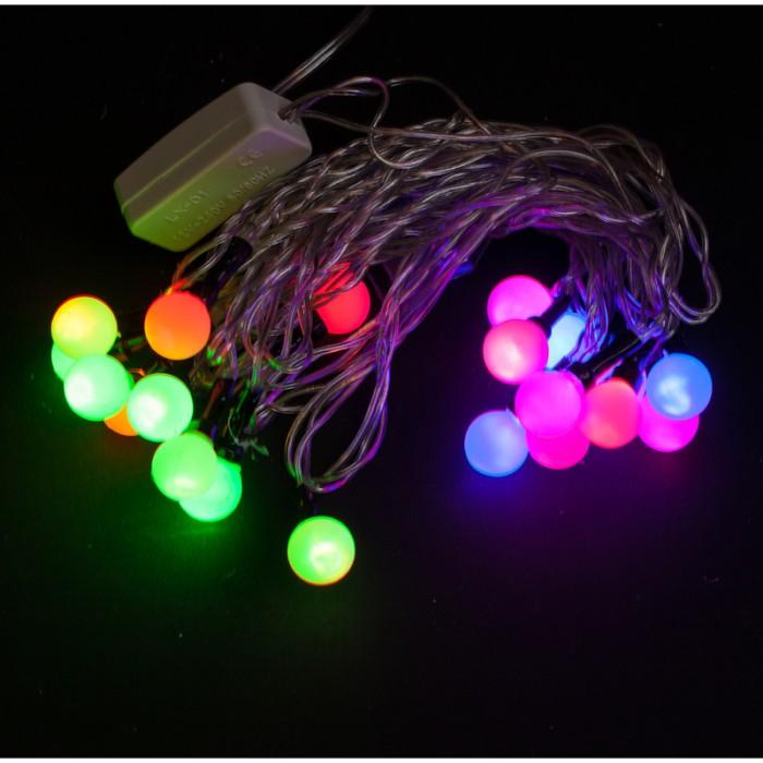 Картинка для Новогодние украшения Пластиндустрия Электрогирлянда светодиодная Шарики RGB 3 м