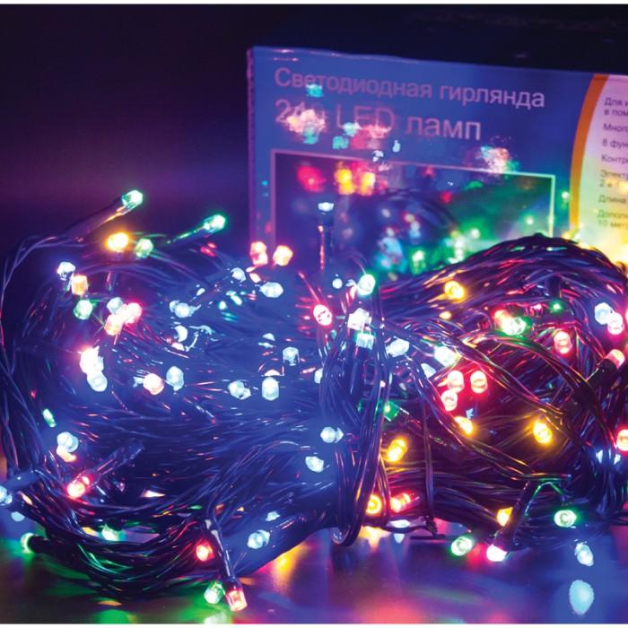 Новогодние украшения Пластиндустрия Электрогирлянда уличная светодиодная 23.9 + 10 м недорого