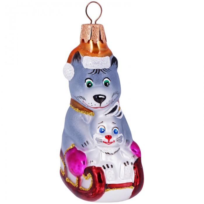 Елочные игрушки Элита Елочное украшение Волк с зайцем 9.5 см