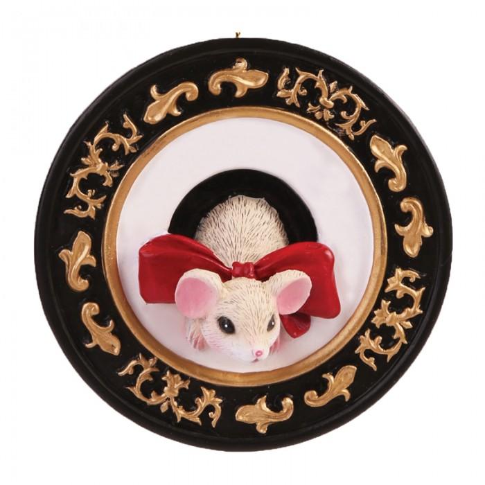 Новогодние украшения Феникс Презент Новогоднее подвесное украшение Мышка с бантиком новогоднее подвесное украшение маскарад