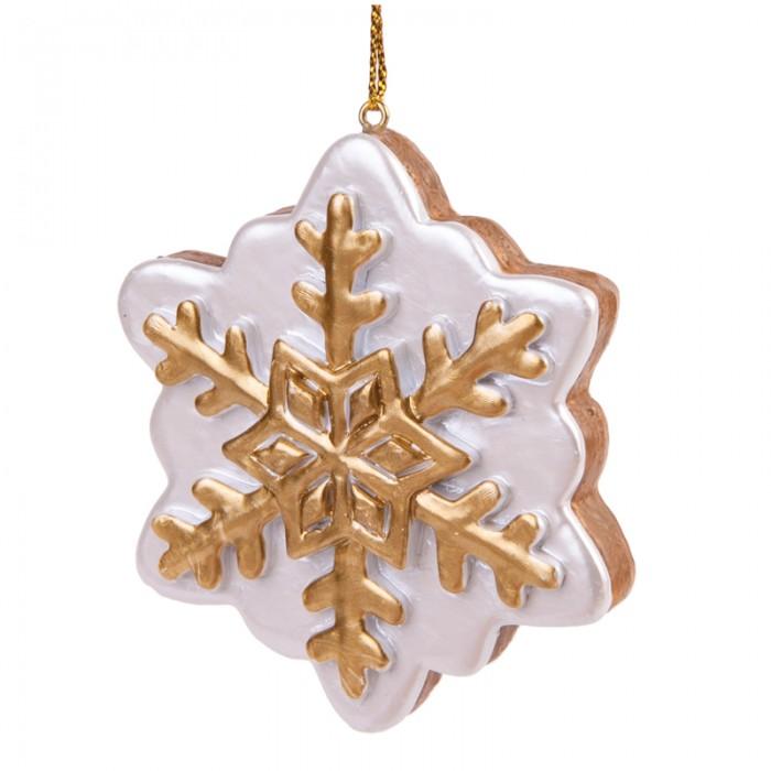 Елочные игрушки Феникс Презент Новогоднее подвесное украшение Пряник-Снежинка новогоднее подвесное украшение маскарад