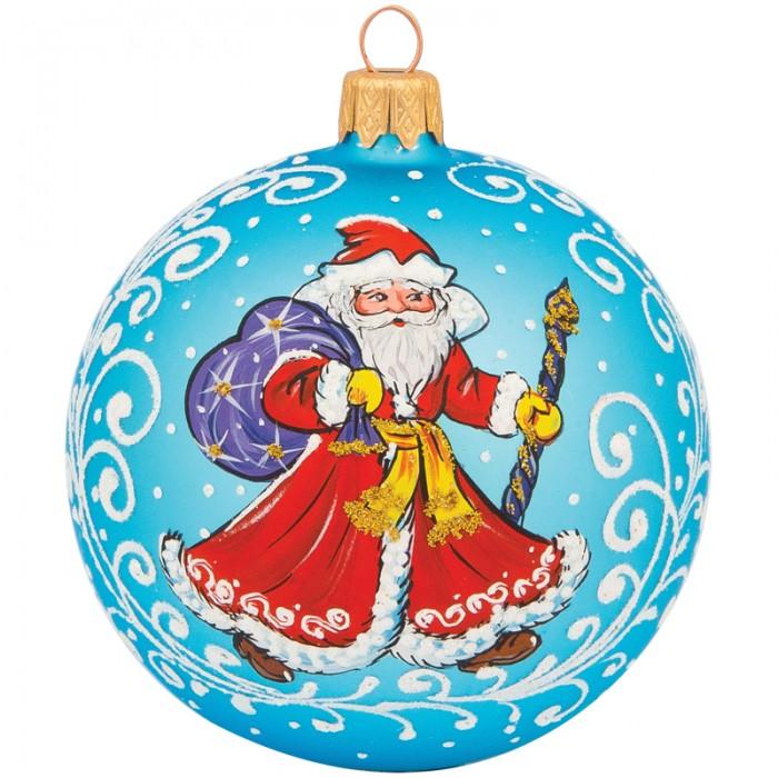 Купить Елочные игрушки, Элита Шар стеклянный Дед Мороз 8.5 см
