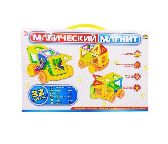 Конструктор Наша Игрушка магнитный (14 деталей) 200594819