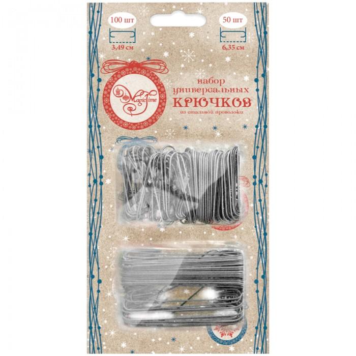 Новогодние украшения Феникс Презент Набор крючков-подвесов для новогодних украшений 100 шт 3.5 см + 50 шт 6.3 см