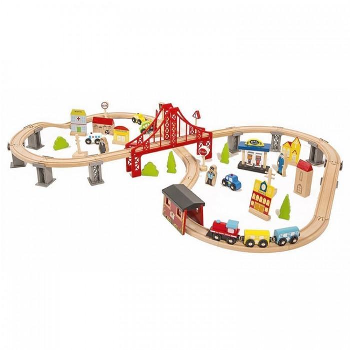 Фото - Железные дороги Lanaland Железная дорога (70 предметов) fenfa железная дорога 210 деталей 1608 2
