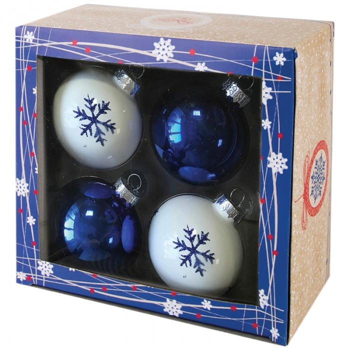 Фото - Елочные игрушки Феникс Презент Набор шаров 4 шт 60 мм 78939 набор стеклянных шаров рождественские сны 60 мм 20 шт