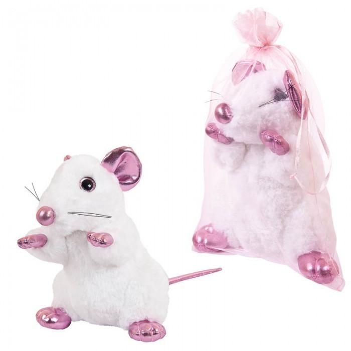 Мягкие игрушки ABtoys Крыса с розовыми лапками 19 см