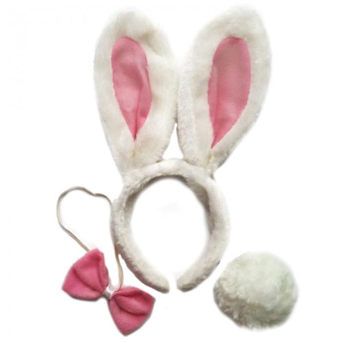 Фото - Товары для праздника Феникс Презент Карнавальный набор ободок-уши Зайца, хвост и галстук-бабочка ободок карнавальный корона