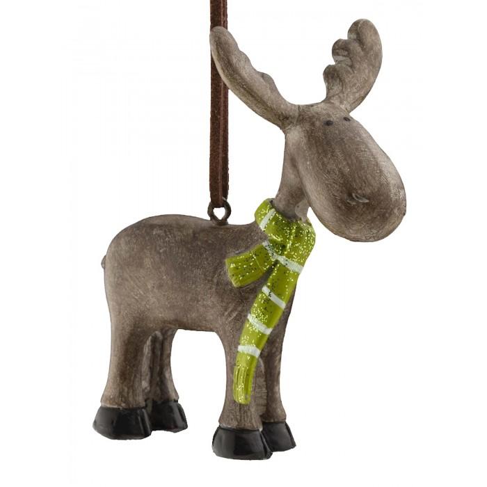 Елочные игрушки Erich Krause Украшение Decor Лосик в шарфе 8 см