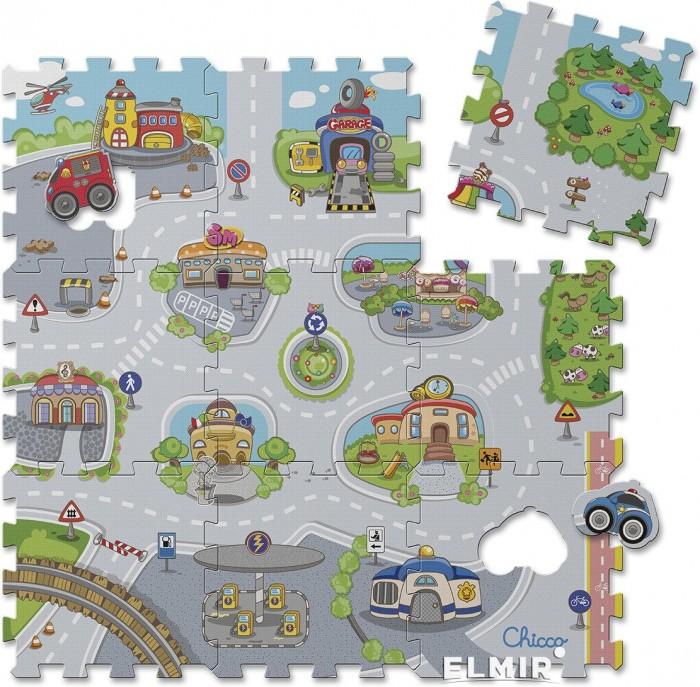 Купить Игровые коврики, Игровой коврик Chicco Коврик-пазл Город